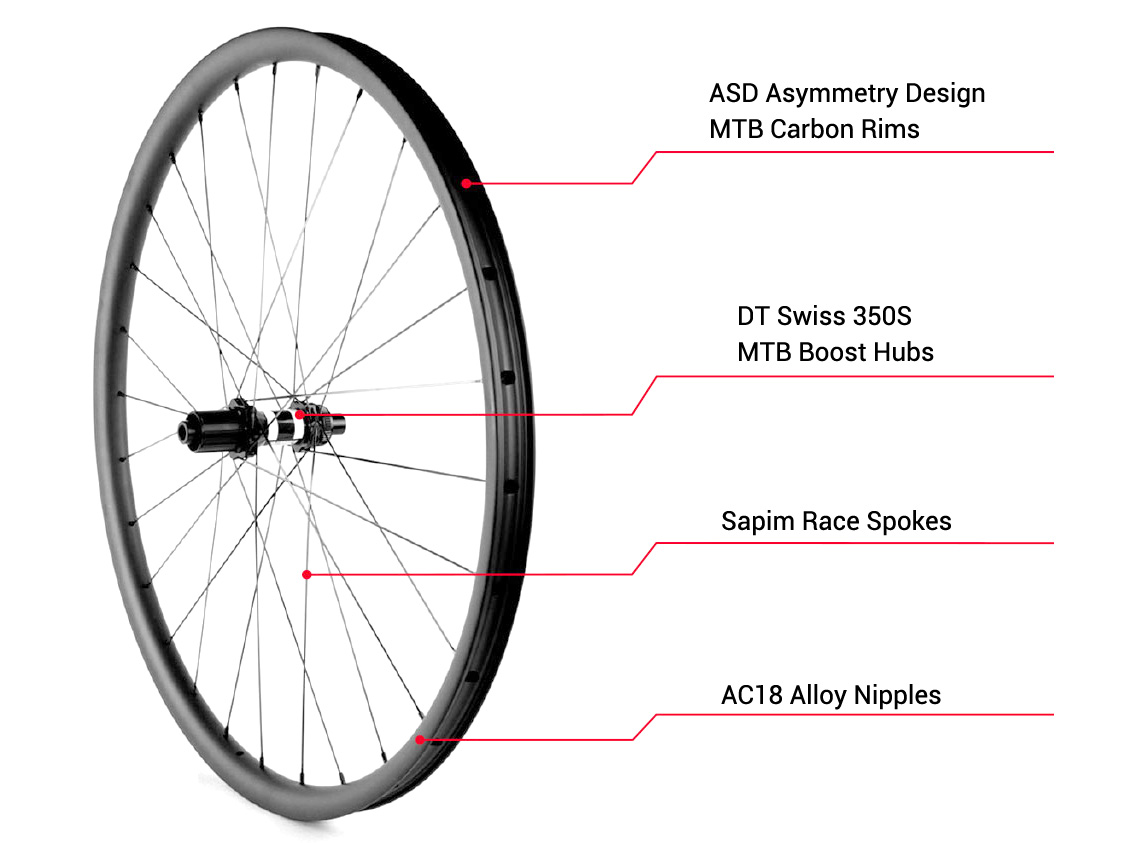 DT350S boost mountain bike wheel