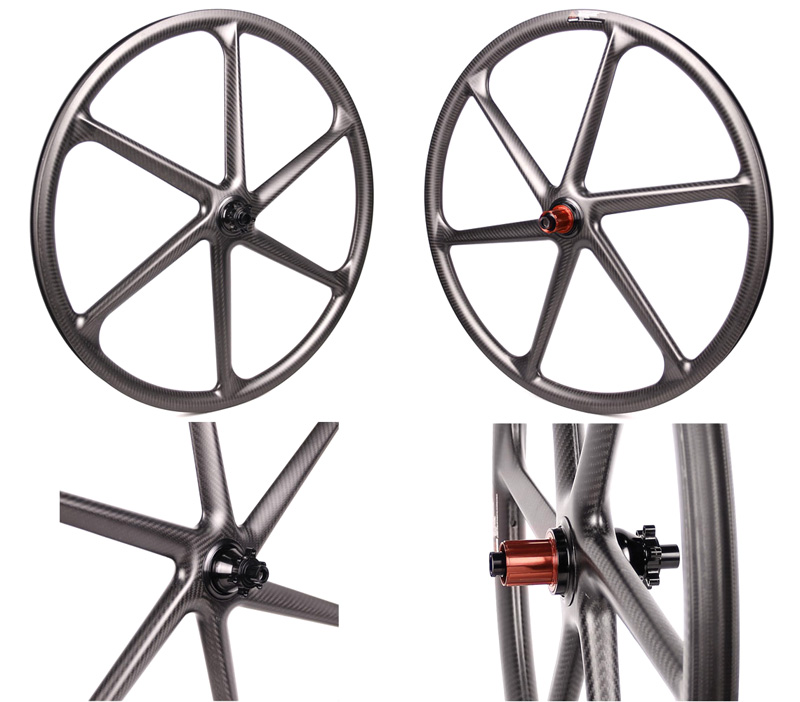 mtb wheel 6 spoke carbon