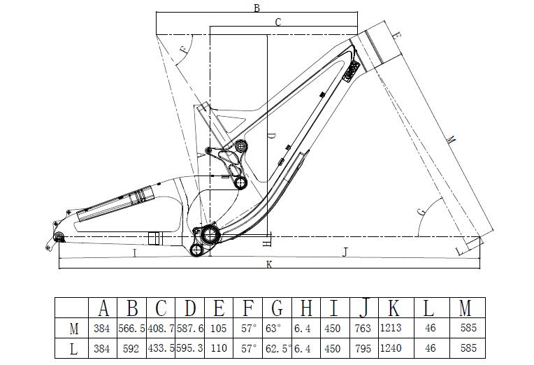 downhill frameset geometry