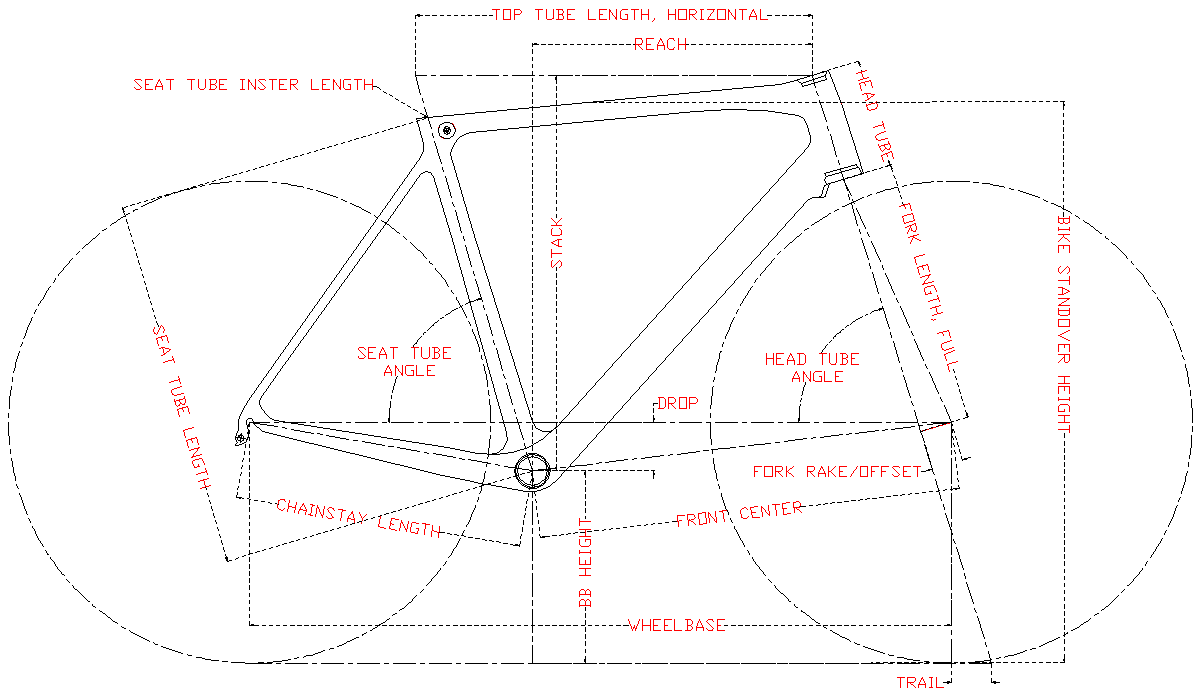 lcr007 chinese carbon road frame geometry