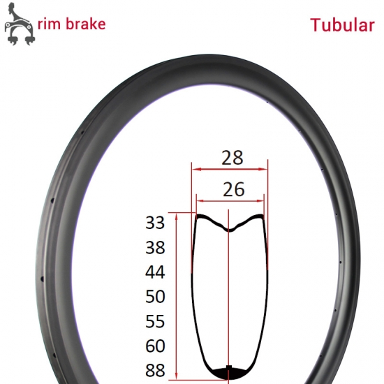 carbon road rim tubular