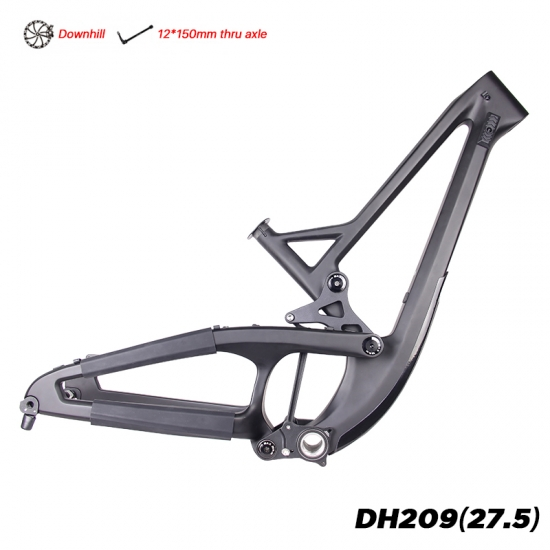 carbon downhill frameset