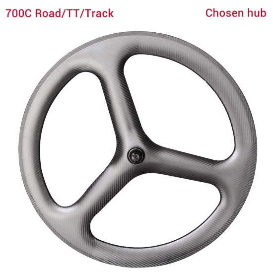 carbon tri spoke wheels