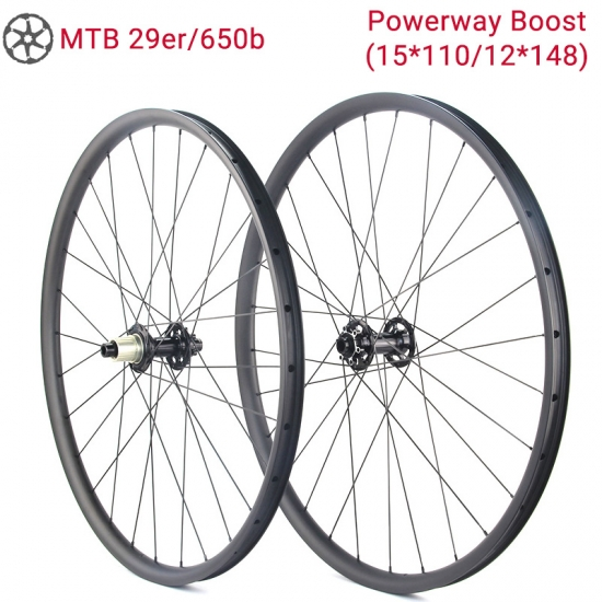 Powerway MTB Boost Carbon Wheels