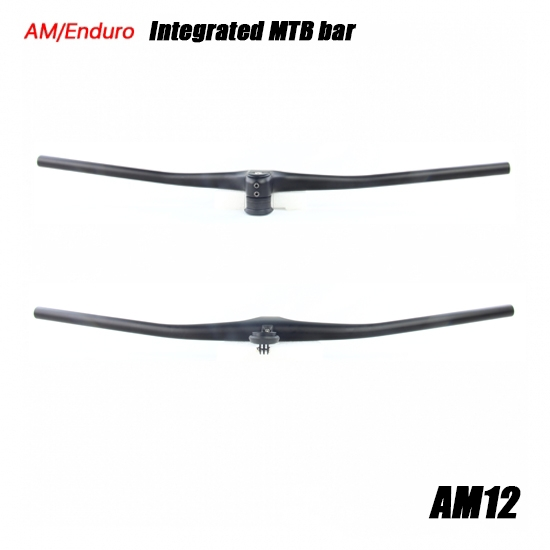integrated flat mtb bar